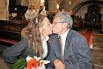 Manželé Hrabovských oslavili zlatou svatbu.