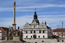 Mariánský sloup ve Stříbře.