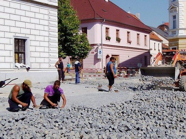 Revitalizace Masarykova náměstí ve Stříbře.