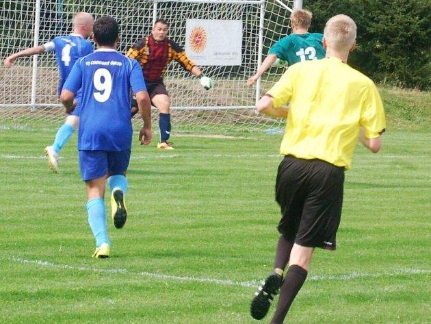 Fotbal-1. A třída: TJ Chodský Újezd deklasoval Nýřany 7:2
