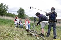Režisér Jan Václav točí na Stříbrsku svůj studentský film Pouto