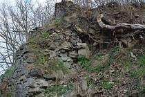 Jen tyto nenápadné zbytky zdí se dochovaly z původní tvrze v Trnové.