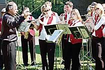Návštěvníky tachovského Pikniku potěšil také Dechový orchestr mladých při ZUŠ Tachov.