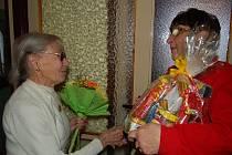 Barbora Nagelschmiedová z Tachova oslavila devadesáté narozeniny