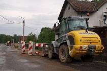 V Oldřichově rekonstruují kanalizaci.
