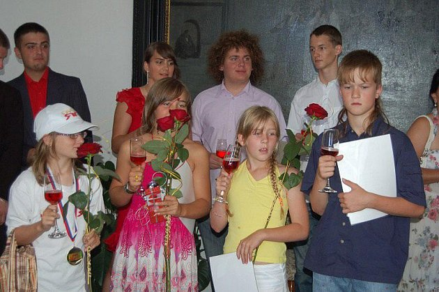 Starosta přijal nejlepší žáky a studenty