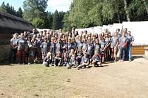 Navštívili jsme tábor nedaleko Hošťky.