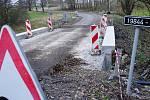 Most u obce Březí je opět průjezdný pro automobily.