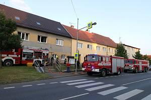 Požár domu v Chodové Plané.