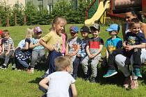 Den dětí na zahradě MŠ Pošumavská