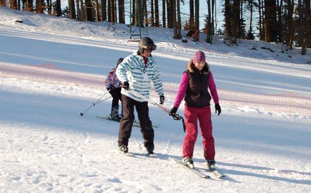 Lyžování ve Ski areálu Přimda