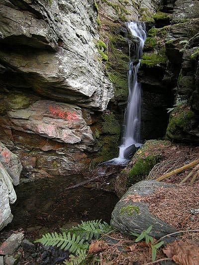Vodopád pod Falkenštejnem.
