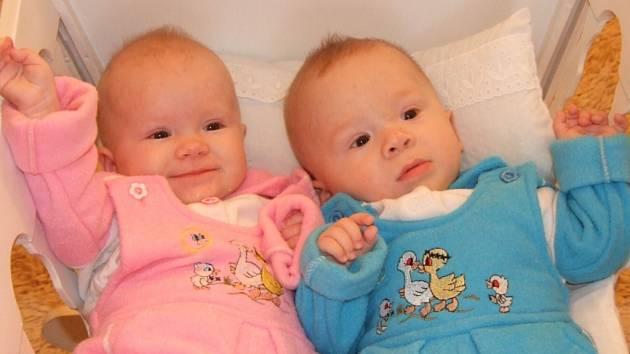 Dvojčátka Kamila a Roman Hudecovi