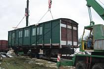 První vagón budoucího legiovlaku.