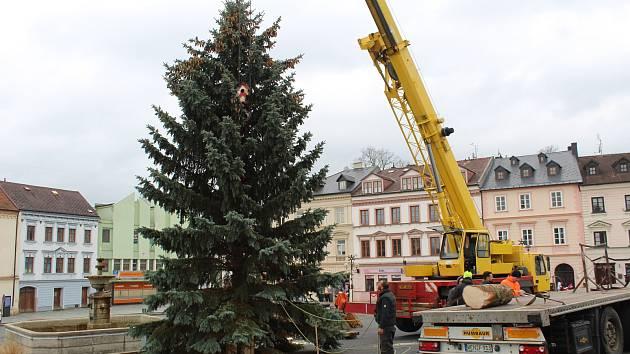 Vánoční strom Tachova pro rok 2018.