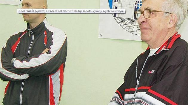 Josef Vacík (vpravo) oslavil ve středu osmdesátiny.