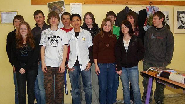 Žáci deváté třídy Základní školy Přimda