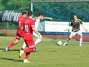 Ze sobotního derby mezi Stříbrem a Tachovem.