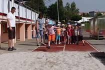 Už sedmý ročník Olympiády pro mateřské školy se konal v pátek na stříbrském stadiónu Baník.