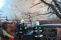 Z požáru v Souměři.