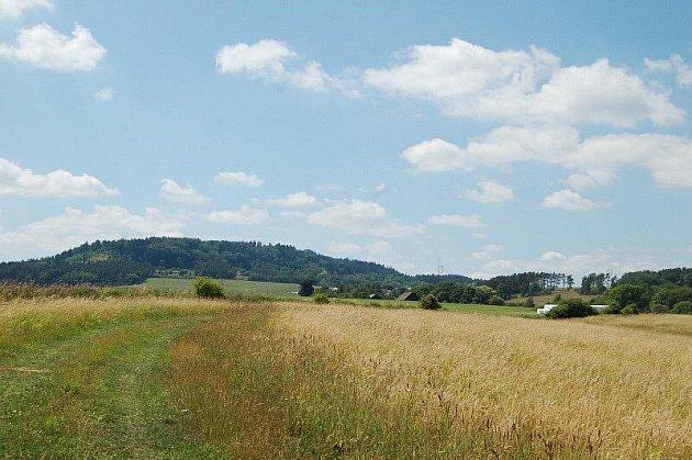 pohled na Hradišťský vrch