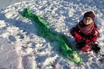 Anička Forejtová a zelený had.
