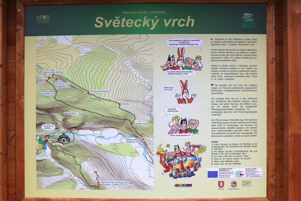 Záběry z nové stezky na Světecký vrch.