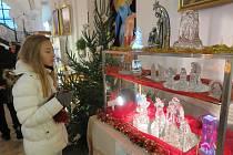 Z výstavy betlémů v kostele ve Stříbře.