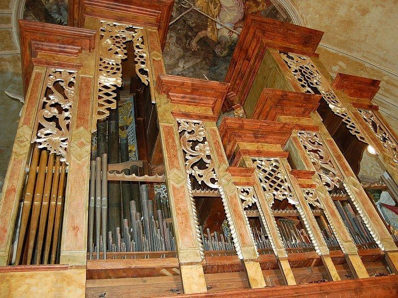 Varhany v kostele sv. Maří Magdaleny.
