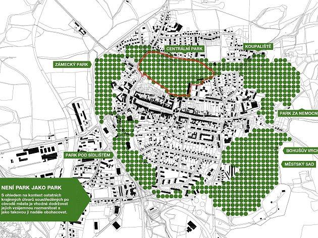 Parky lemují historickou část Plané.