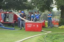 Součástí oslav v Dlouhém Újezdě byly také hasičké závody