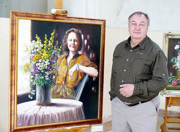 AKADMICKÝ MALÍŘ Václav Nasvětil představil o víkendu v Tachově poprvé svá díla.
