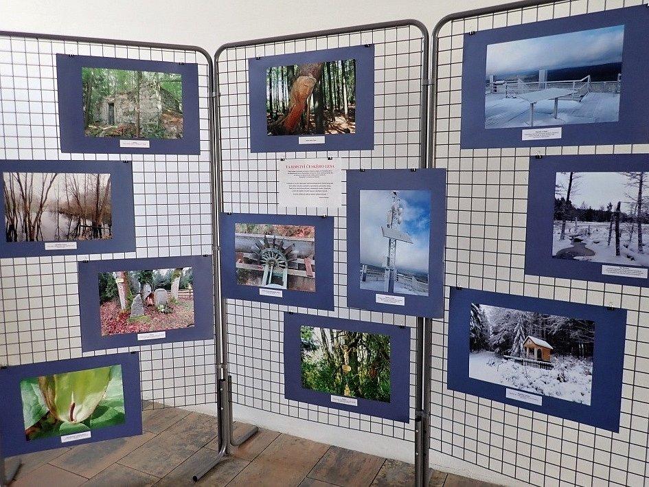Výstava fotografií Českého lesa v Černošíně.