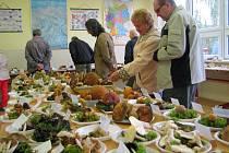 Výstava hub je na škole již tradicí.