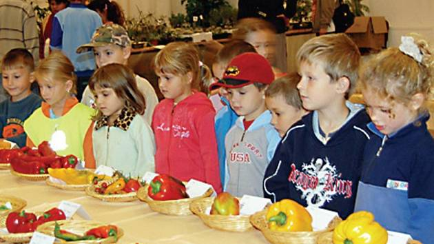 Okresní výstavu navštívila také drobotina z tachovské mateřské školy Prokopa Velikého