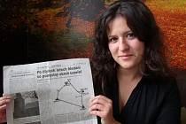 ŠÁRKA HOLEŠOVSKÁ se svým nejstarším vystřiženým článkem.