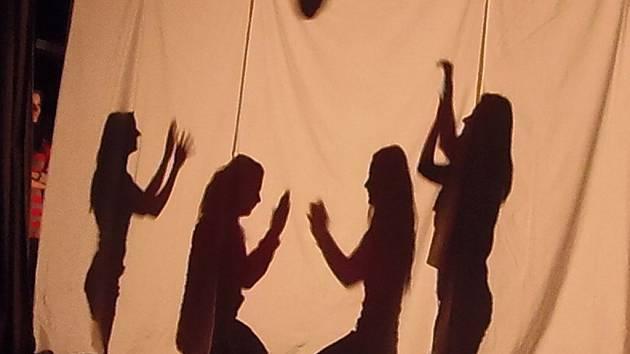 Studenti hráli stínové divadlo, tančili i zpívali
