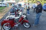 Ze setkání československých malých motocyklů ve Stříbře.