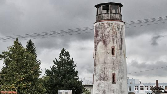 Maják v Tachově, který původně sloužil k letecké navigaci.