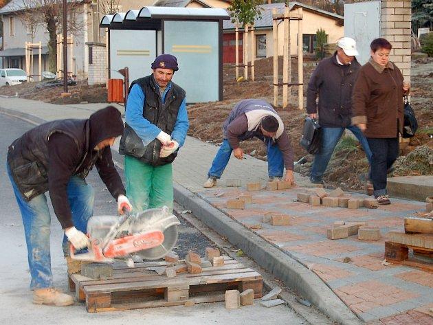Rekonstrukce náměstí v Přimdě.