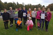 Žáci ZŠ Hornická Tachov závodili v přespolním běhu družstev v okresním kole.