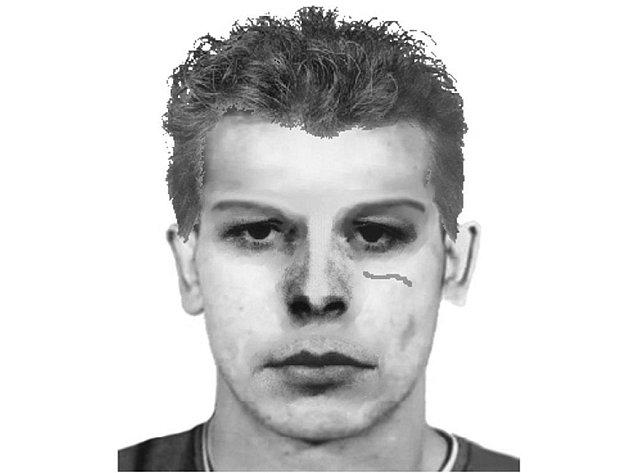 Policejní identikit možného pachatele vloupání do tří bytů ve Stříbře.