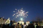 Stříbrský ohňostroj ozářil centrum města