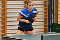 Prvoligová stolní tenistka Petra Jehlíková.