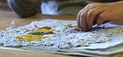 Předškoláci vyráběli papír