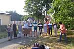 Demonstrace v Oboře.