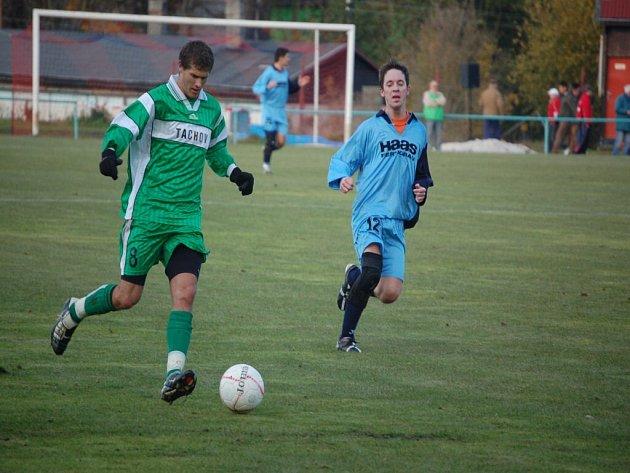 Ze zápasu FK Tachov Chanos Chanovice.