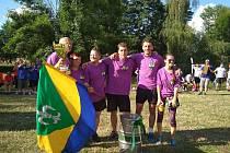 Vítězný tým Her bez hranic, družstvo ze Svinné.