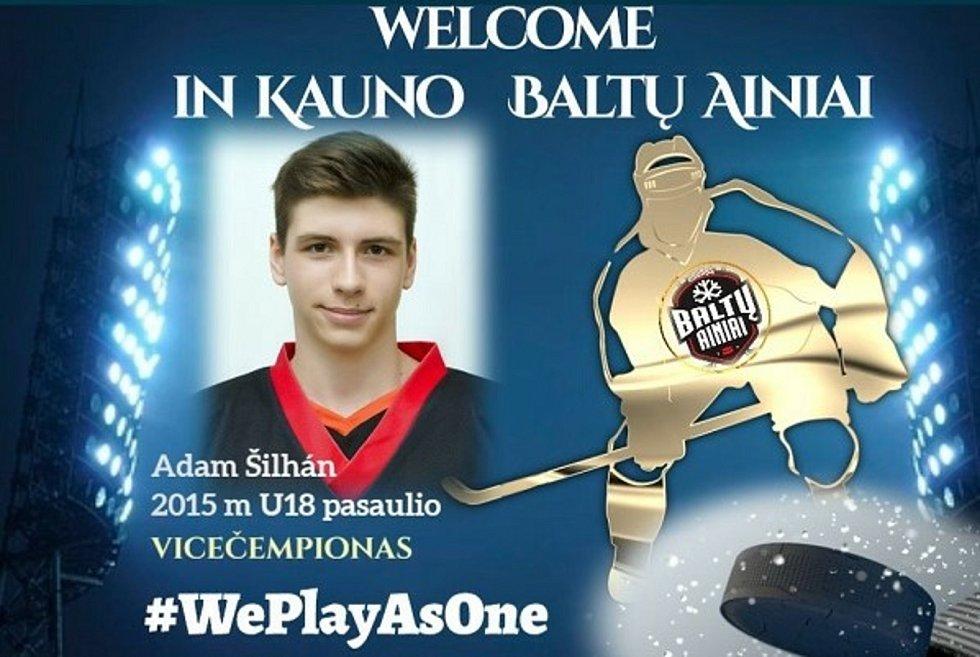 Start jako hrom! Ještě ani ´neoschla barva´ na uvítací grafice pro novou posilu hokejového klubu z litevského hlavního města a Adam Šilhán už slavil svůj první gól v novém dresu.