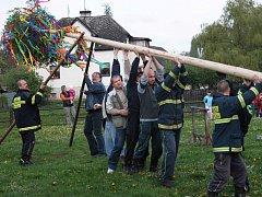 O stavění staročeské májky se starají většinou dobrovolní hasiči.